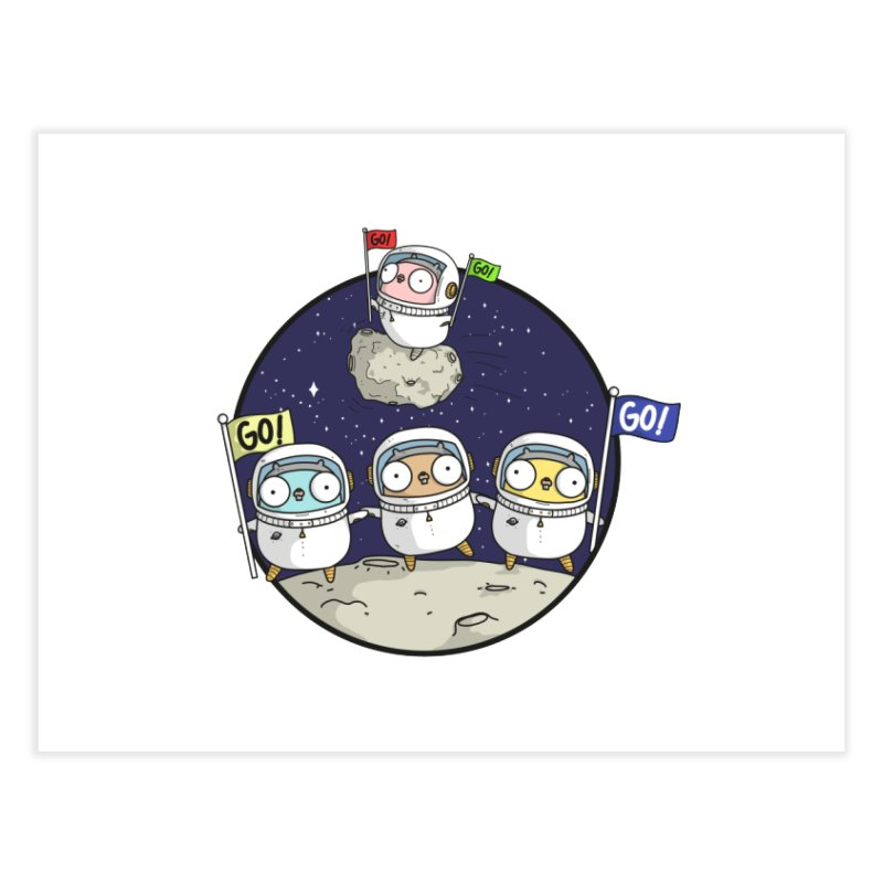 Space Gophers Home Fine Art Print by Women Who Go