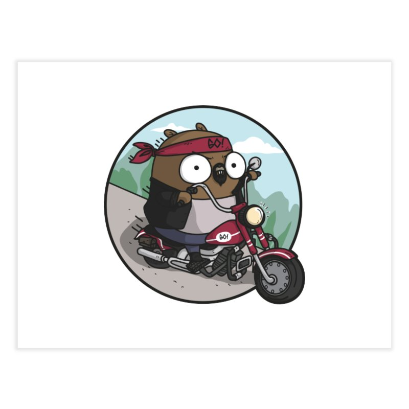 Gopher Moto Home Fine Art Print by Women Who Go