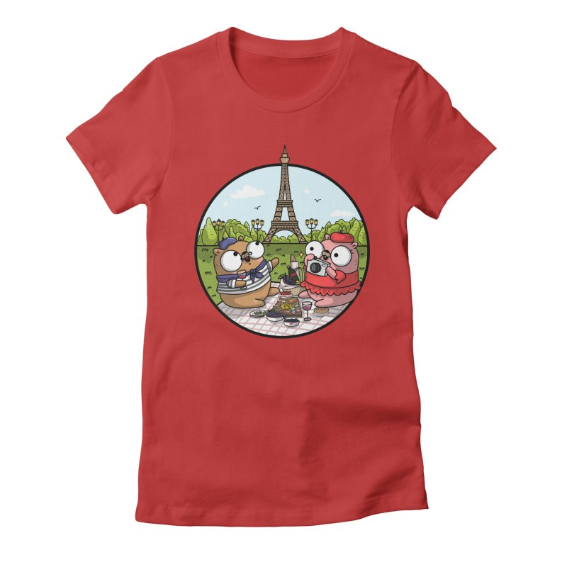 French Gophers Women's Fitted T-Shirt by Women Who Go