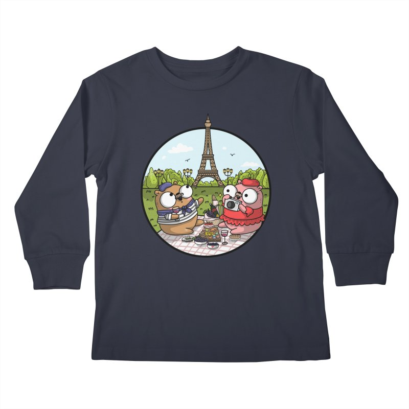 French Gophers Kids Longsleeve T-Shirt by Women Who Go