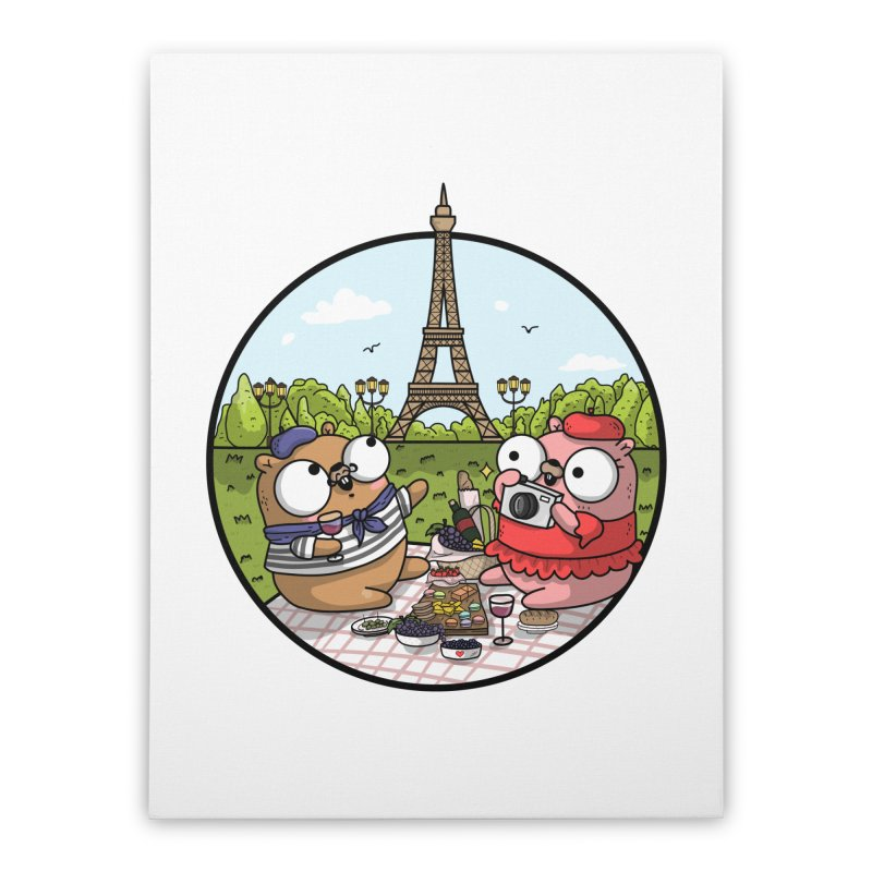 French Gophers Home Stretched Canvas by Women Who Go