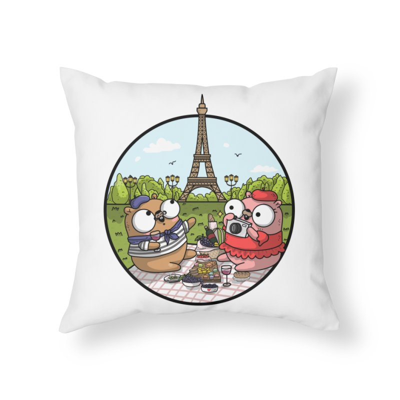 French Gophers Home Throw Pillow by Women Who Go