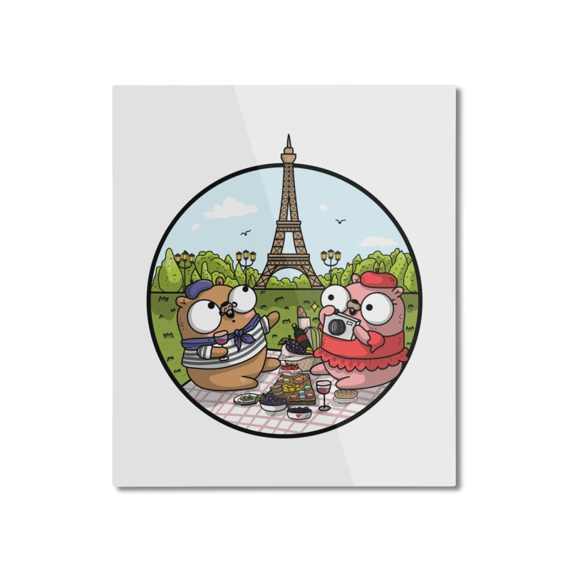 French Gophers Home Mounted Aluminum Print by Women Who Go
