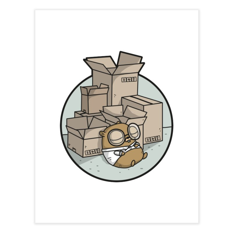 Go Packages Home Fine Art Print by Women Who Go