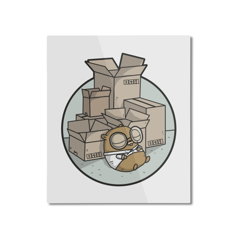 Go Packages Home Mounted Aluminum Print by Women Who Go