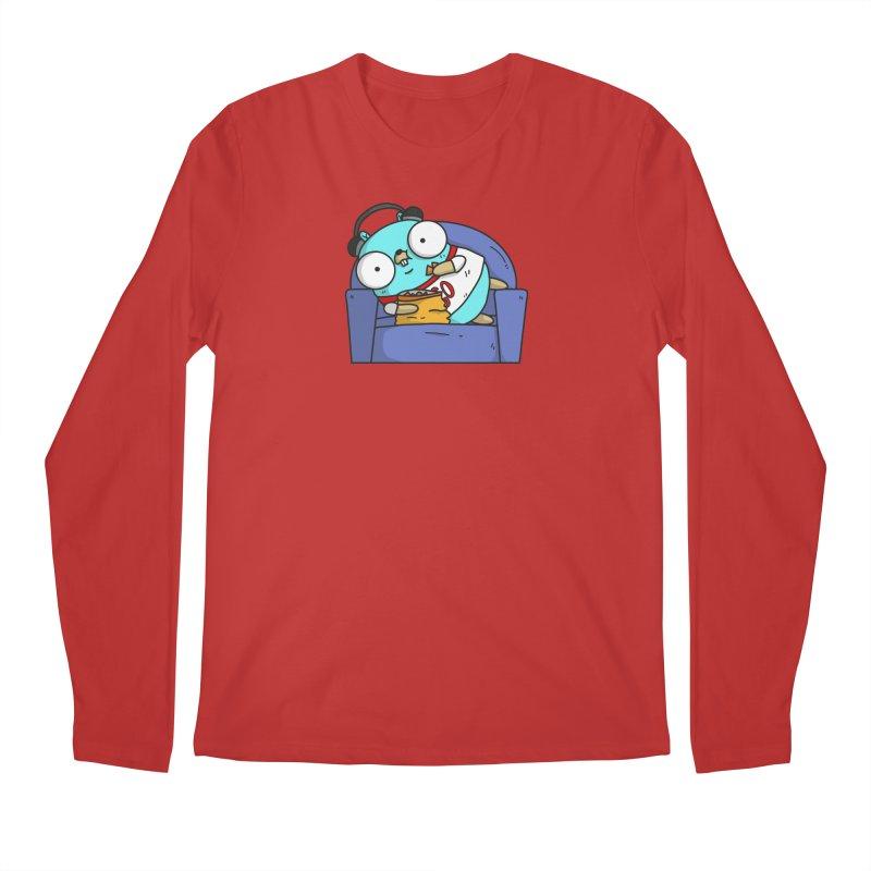 Lazy Gopher Men's Regular Longsleeve T-Shirt by Women Who Go