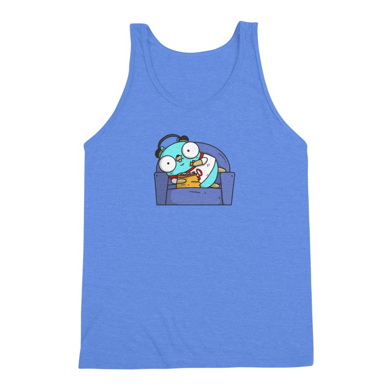 Lazy Gopher Men's Triblend Tank by Women Who Go
