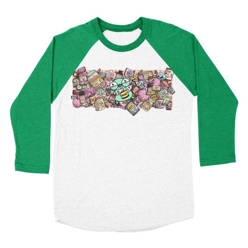 Gopher Snacks Women's Baseball Triblend Longsleeve T-Shirt by Women Who Go