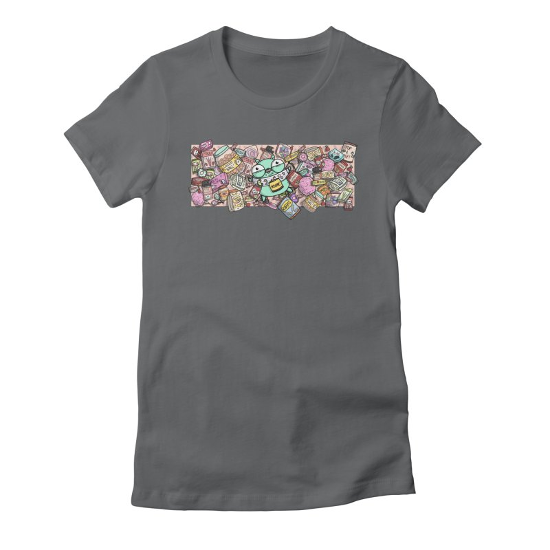 Gopher Snacks Women's Fitted T-Shirt by Women Who Go