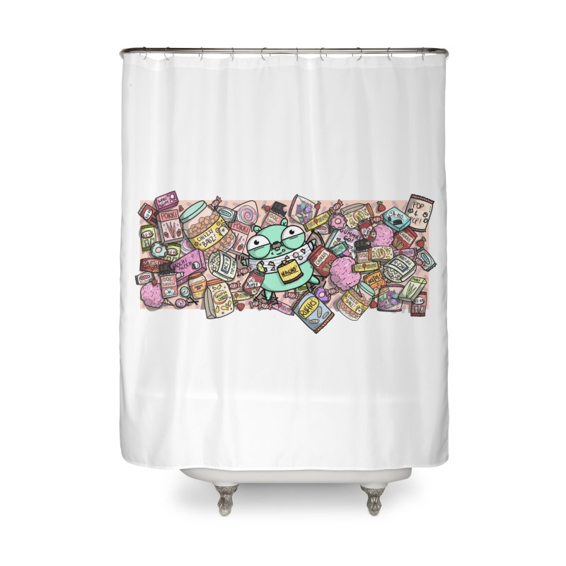 Gopher Snacks Home Shower Curtain by Women Who Go