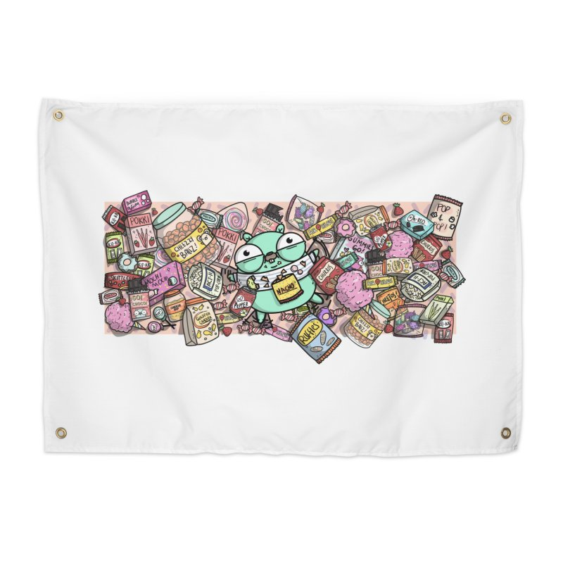 Gopher Snacks Home Tapestry by Women Who Go