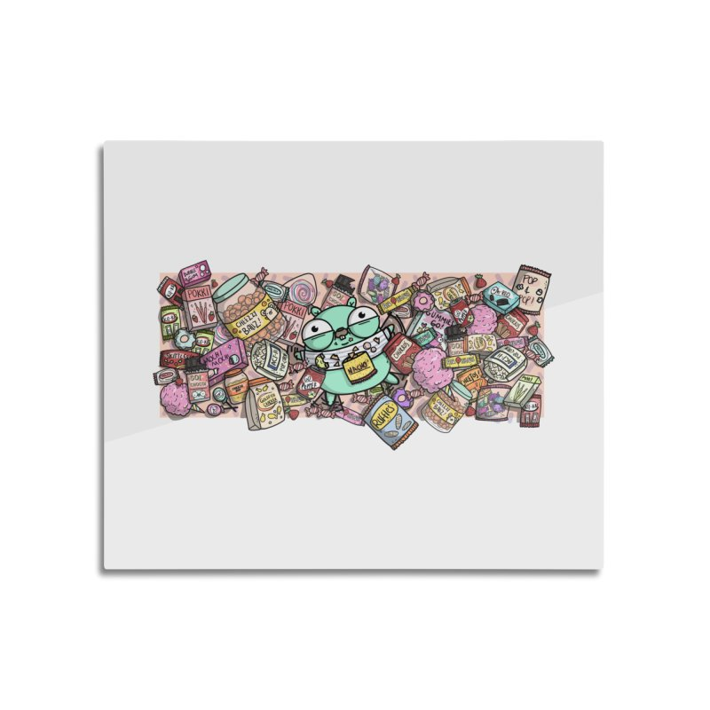 Gopher Snacks Home Mounted Aluminum Print by Women Who Go