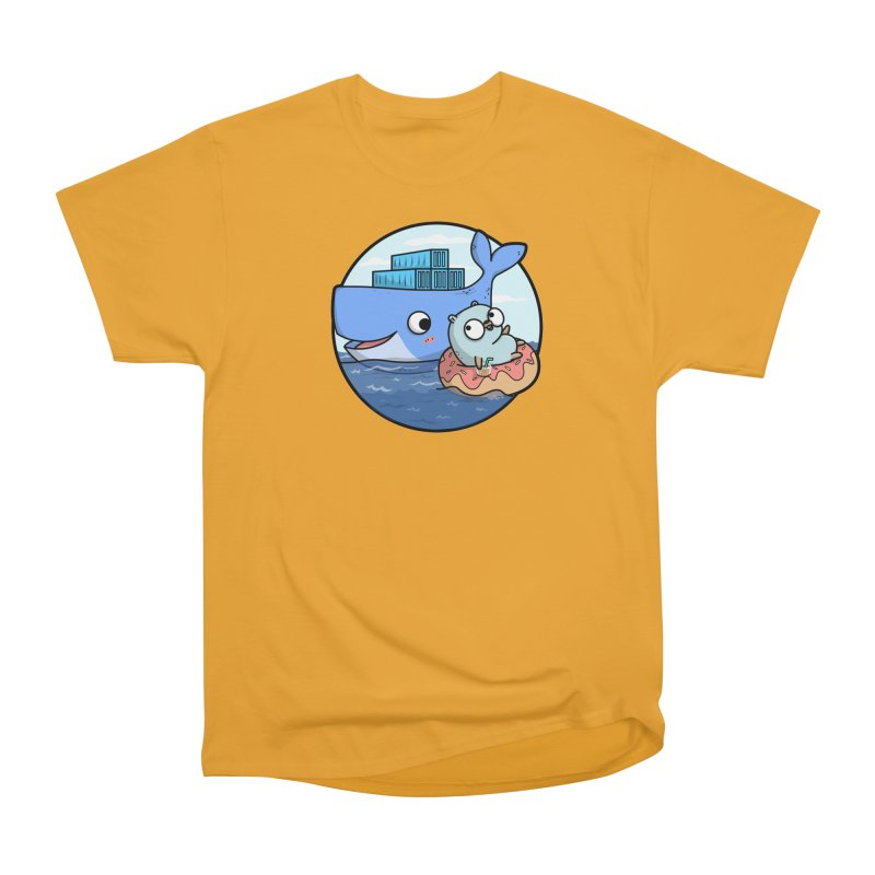 Gopher Docker Men's Heavyweight T-Shirt by Women Who Go