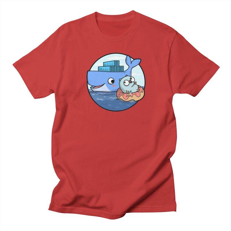 Gopher Docker Women's Regular Unisex T-Shirt by Women Who Go