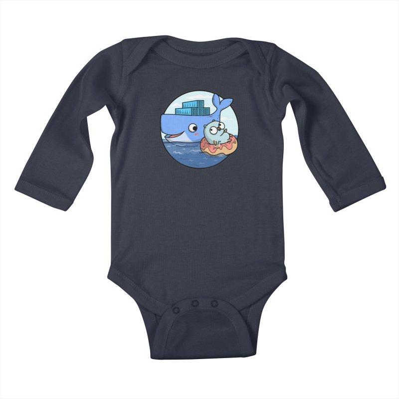 Gopher Docker Kids Baby Longsleeve Bodysuit by Women Who Go