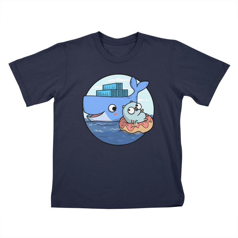 Gopher Docker Kids T-Shirt by Women Who Go