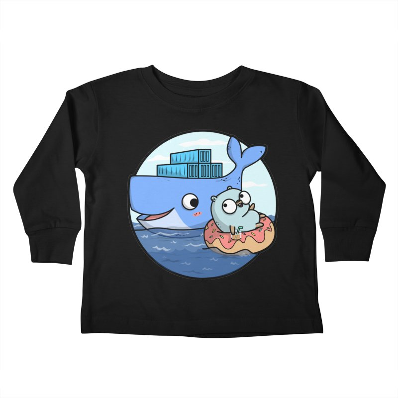 Gopher Docker Kids Toddler Longsleeve T-Shirt by Women Who Go