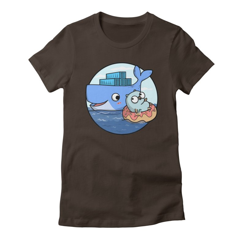Gopher Docker Women's Fitted T-Shirt by Women Who Go