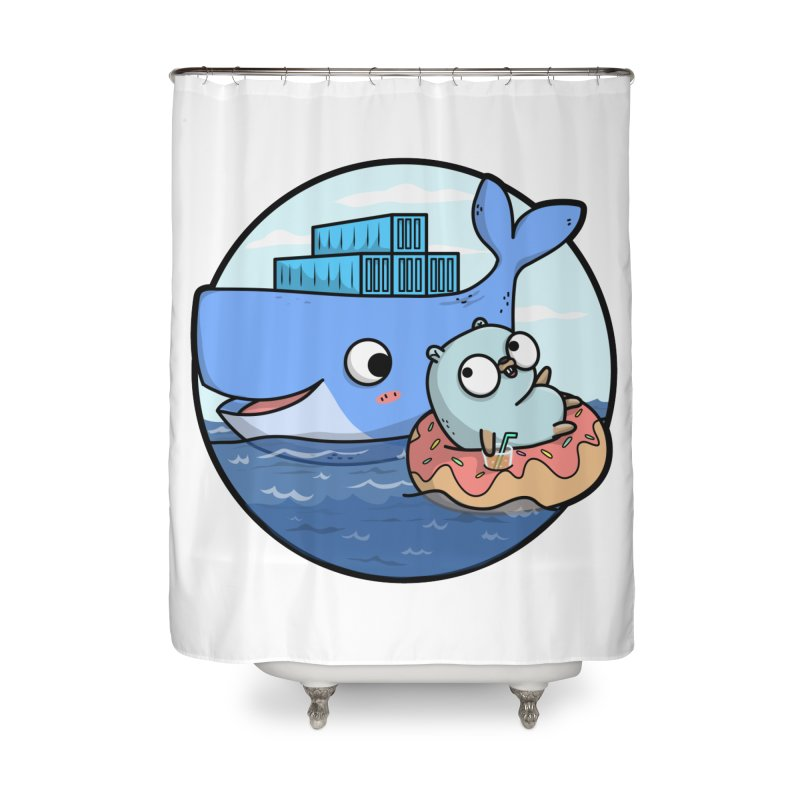 Gopher Docker Home Shower Curtain by Women Who Go