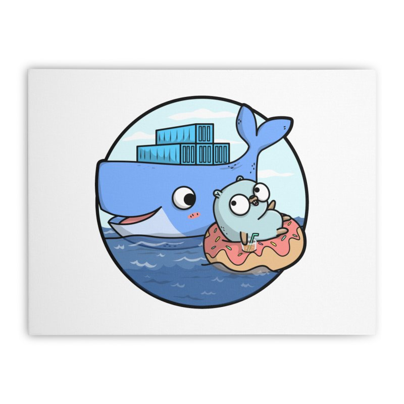 Gopher Docker Home Stretched Canvas by Women Who Go