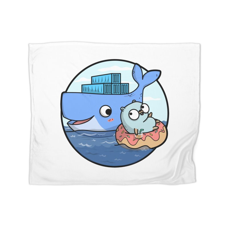 Gopher Docker Home Fleece Blanket Blanket by Women Who Go