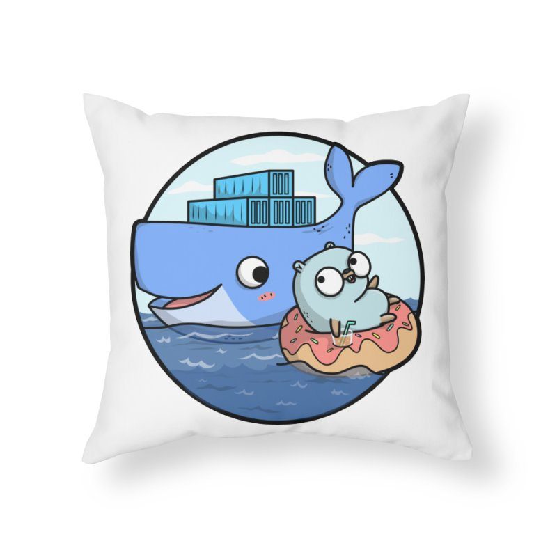 Gopher Docker Home Throw Pillow by Women Who Go