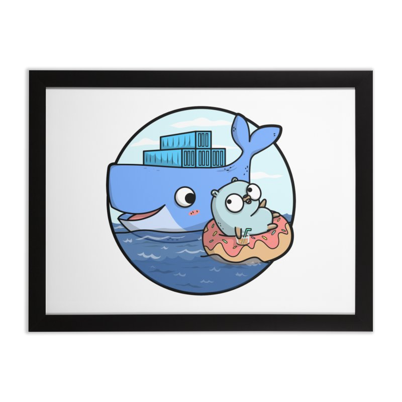 Gopher Docker Home Framed Fine Art Print by Women Who Go