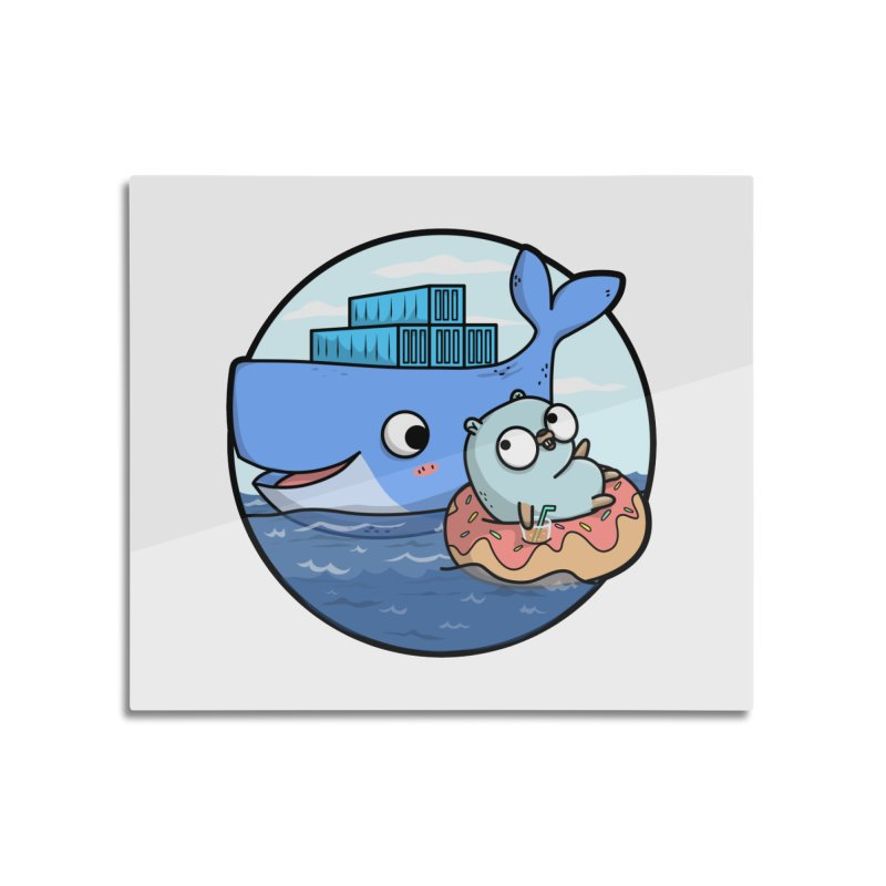 Gopher Docker Home Mounted Aluminum Print by Women Who Go