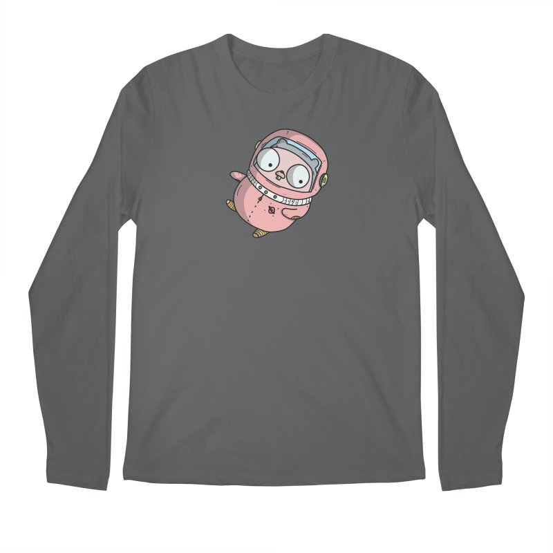 Space Gopher (Pink) Men's Longsleeve T-Shirt by Women Who Go