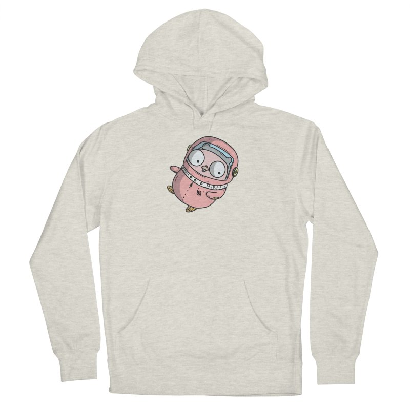 Space Gopher (Pink) Women's French Terry Pullover Hoody by Women Who Go
