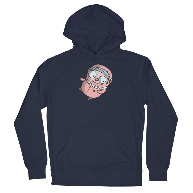 Space Gopher (Pink) Men's Pullover Hoody by Women Who Go