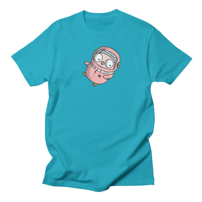 Space Gopher (Pink) Men's Regular T-Shirt by Women Who Go