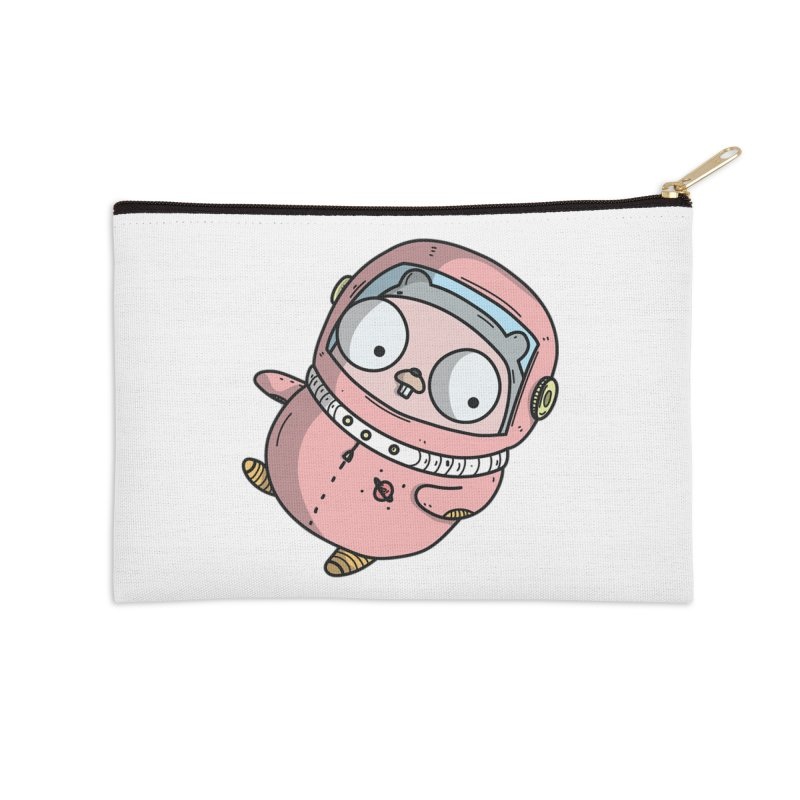 Space Gopher (Pink) Accessories Zip Pouch by Women Who Go