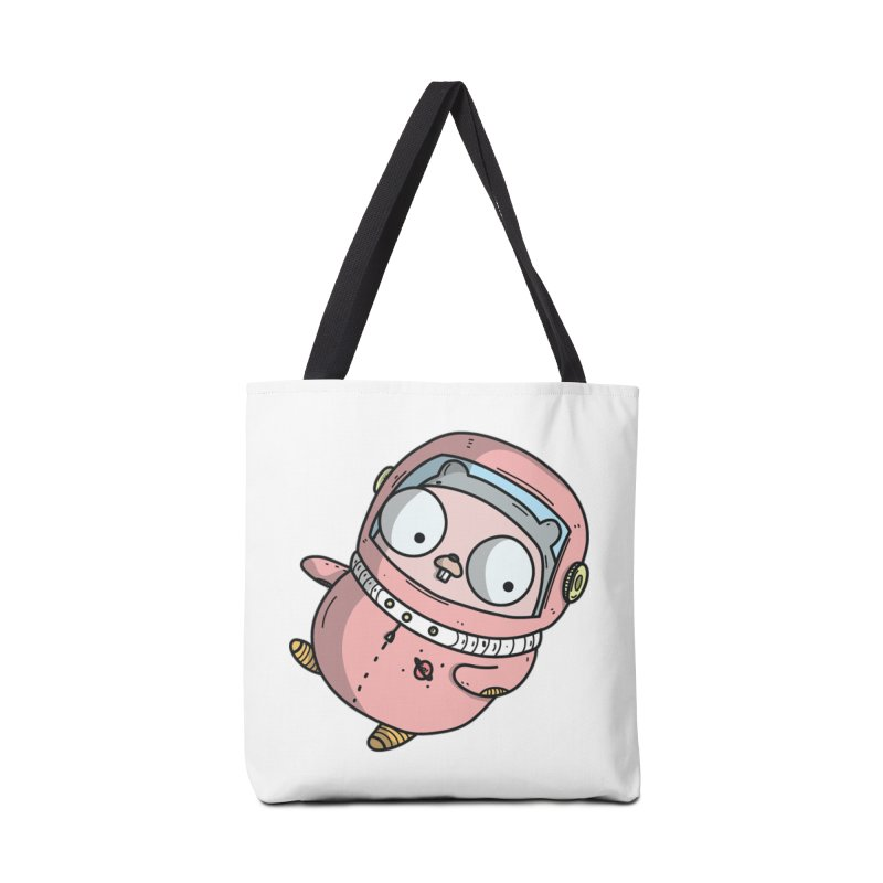 Space Gopher (Pink) Accessories Tote Bag Bag by Women Who Go