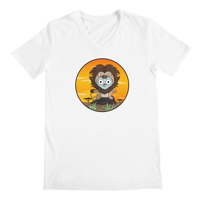 Gopher Lion Men's V-Neck by Women Who Go