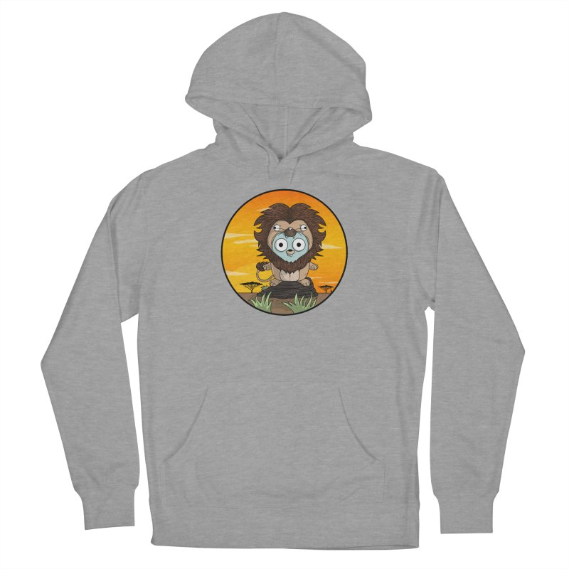 Gopher Lion Men's French Terry Pullover Hoody by Women Who Go