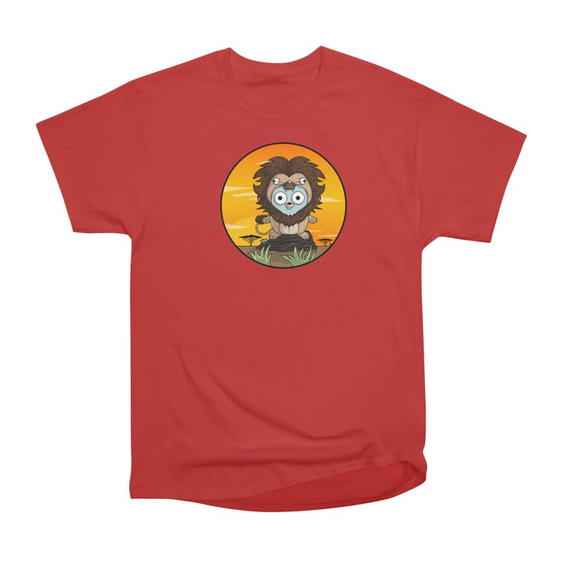 Gopher Lion Men's Heavyweight T-Shirt by Women Who Go