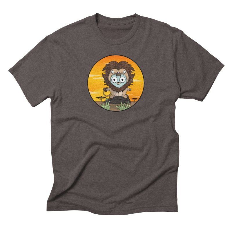 Gopher Lion Men's Triblend T-Shirt by Women Who Go