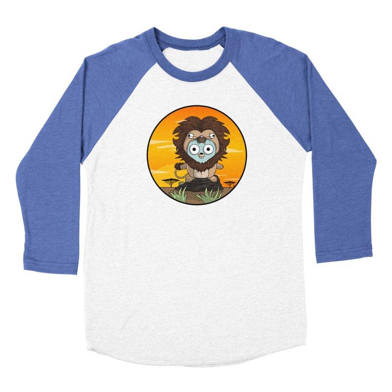Gopher Lion Women's Baseball Triblend Longsleeve T-Shirt by Women Who Go