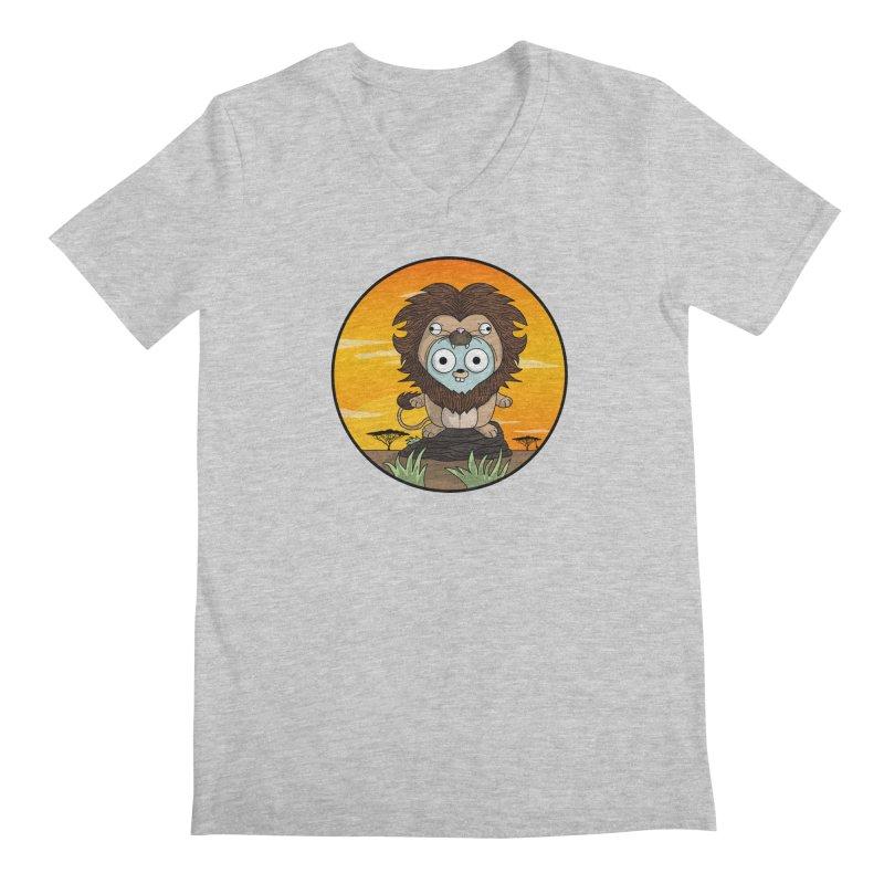 Gopher Lion Men's Regular V-Neck by Women Who Go