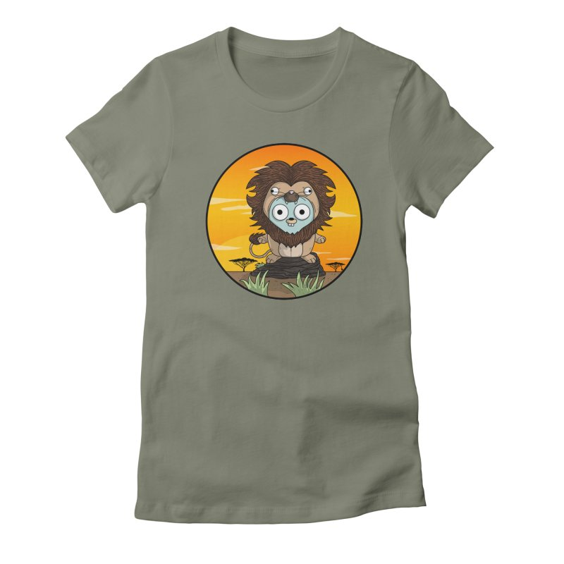 Gopher Lion Women's Fitted T-Shirt by Women Who Go