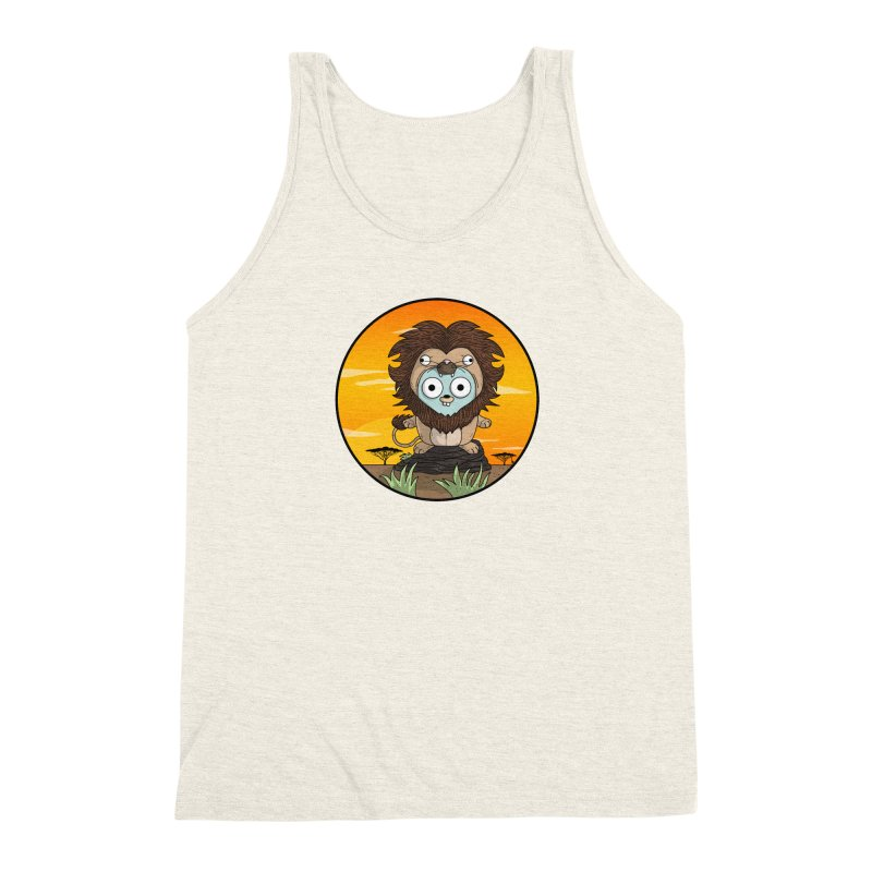 Gopher Lion Men's Triblend Tank by Women Who Go