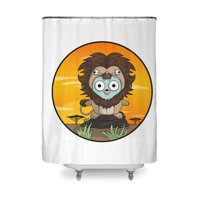 Gopher Lion Home Shower Curtain by Women Who Go
