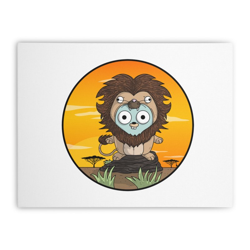 Gopher Lion Home Stretched Canvas by Women Who Go
