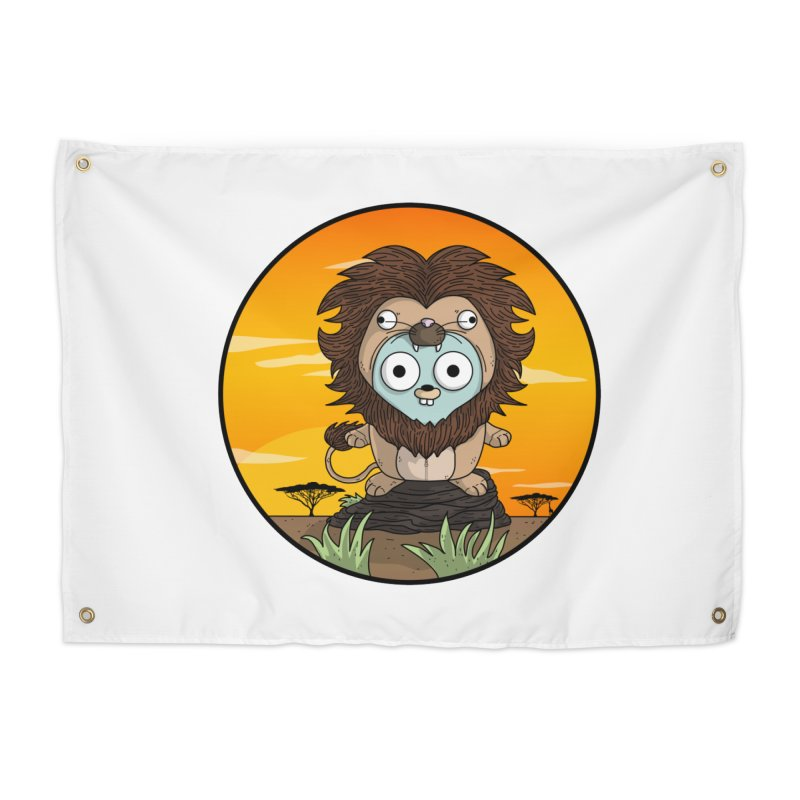 Gopher Lion Home Tapestry by Women Who Go