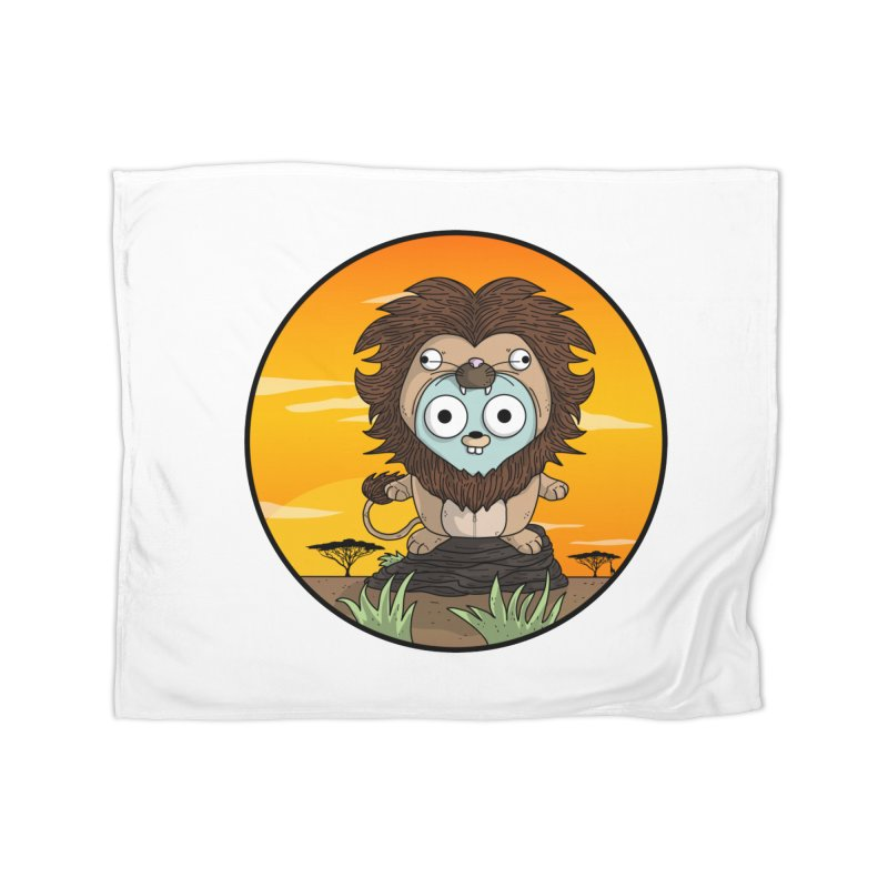 Gopher Lion Home Fleece Blanket Blanket by Women Who Go