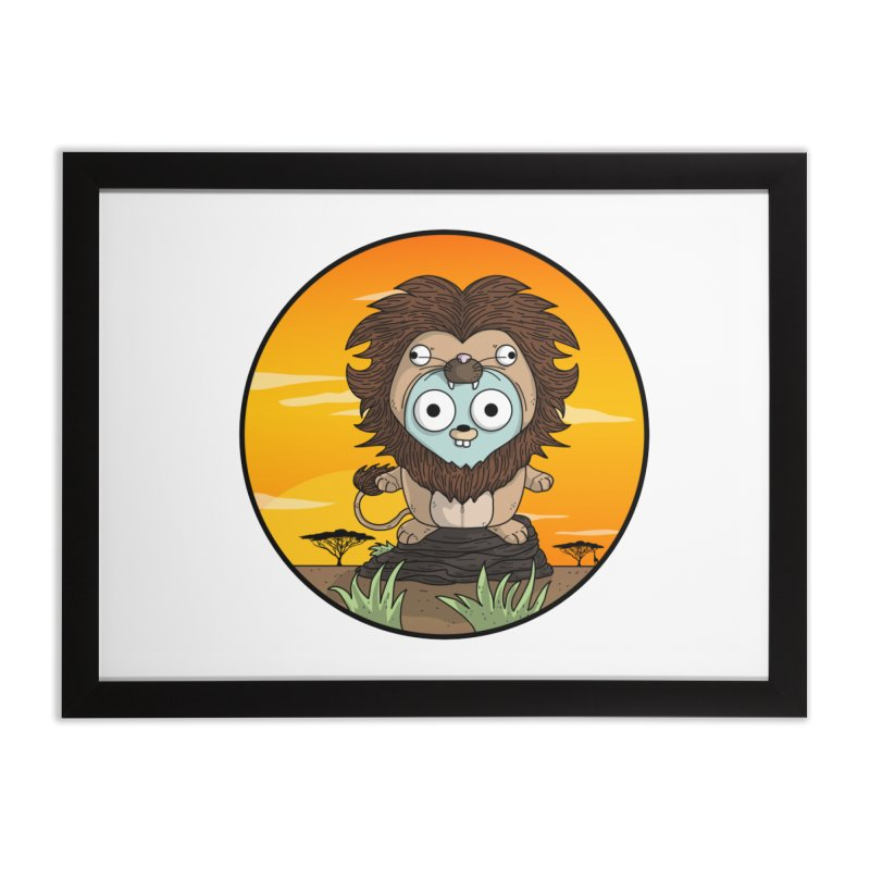 Gopher Lion Home Framed Fine Art Print by Women Who Go