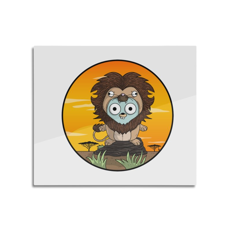 Gopher Lion Home Mounted Aluminum Print by Women Who Go