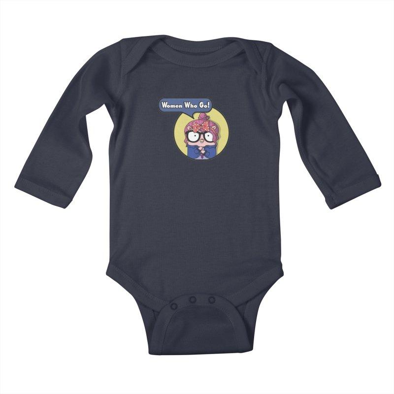 Women Who Go Kids Baby Longsleeve Bodysuit by Women Who Go
