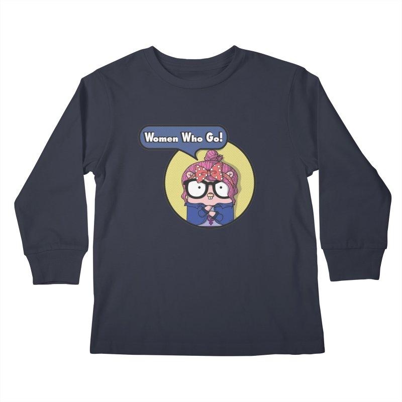 Women Who Go Kids Longsleeve T-Shirt by Women Who Go
